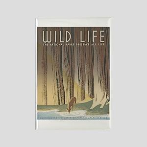 Wild Life Rectangle Magnet