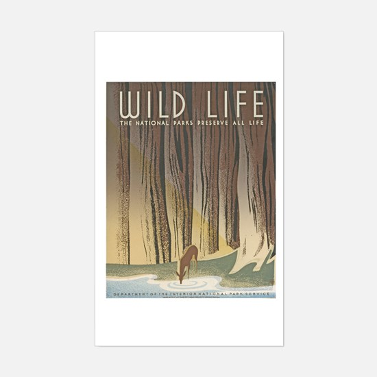 Wild Life Rectangle Decal