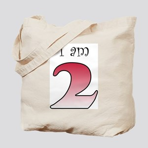 I am 2 (red) Tote Bag