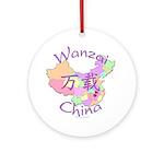 Wanzai China Map Ornament (Round)