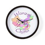 Wanzai China Map Wall Clock