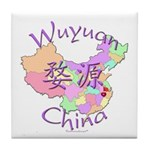 Wuyuan China Map Tile Coaster