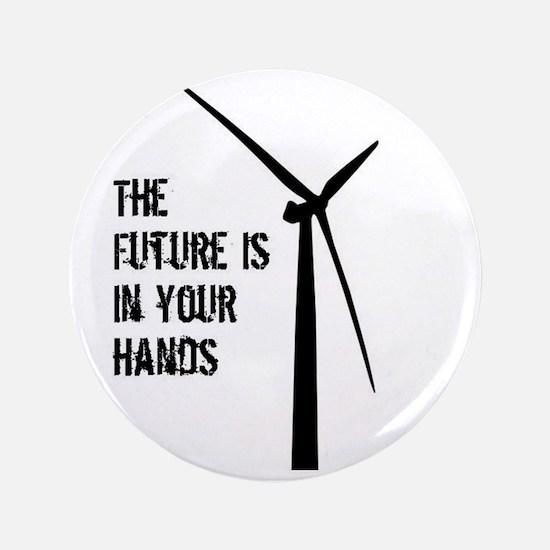 "Cute Wind turbine 3.5"" Button"