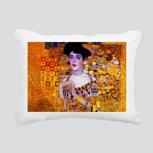 Klimt: Adele Bloch-Bauer Rectangular Canvas Pillow