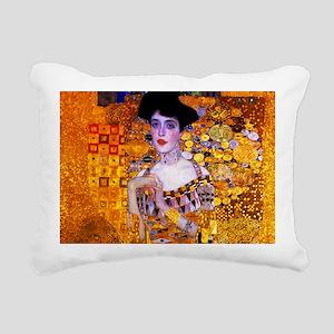 Klimt: Adele Bloch-Bauer Rectangular Canvas Pillow