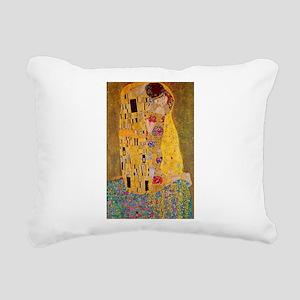 The Kiss Rectangular Canvas Pillow