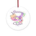 Yihuang China MAp Ornament (Round)