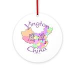 Yingtan China Map Ornament (Round)
