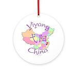 Yiyang China Map Ornament (Round)