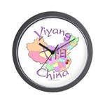 Yiyang China Map Wall Clock
