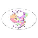 Yiyang China Map Oval Sticker (10 pk)