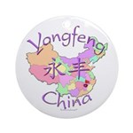 Yongfeng China Map Ornament (Round)