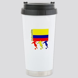 Colombia Soccer Stainless Steel Travel Mug