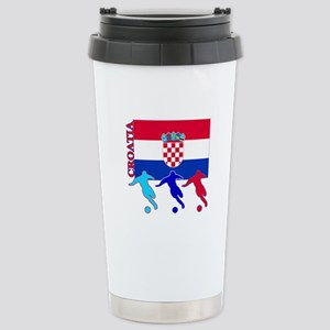 Croatia Soccer Stainless Steel Travel Mug