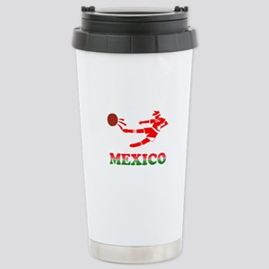 Mexican Soccer Player Stainless Steel Travel Mug