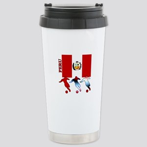 Peru Soccer Stainless Steel Travel Mug
