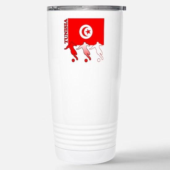 Tunisia Soccer Stainless Steel Travel Mug