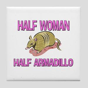 Half Woman Half Armadillo Tile Coaster