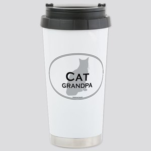 House Cat Grandpa Stainless Steel Travel Mug