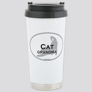 Cat Grandma Stainless Steel Travel Mug