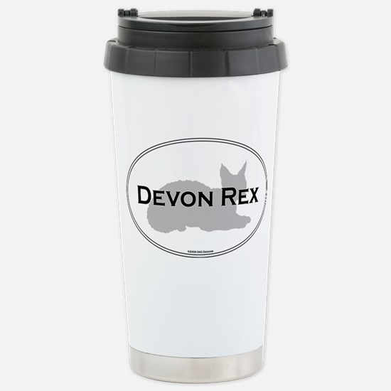 Devon Rex Oval Stainless Steel Travel Mug