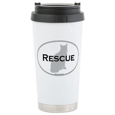 Rescue Cat Stainless Steel Travel Mug