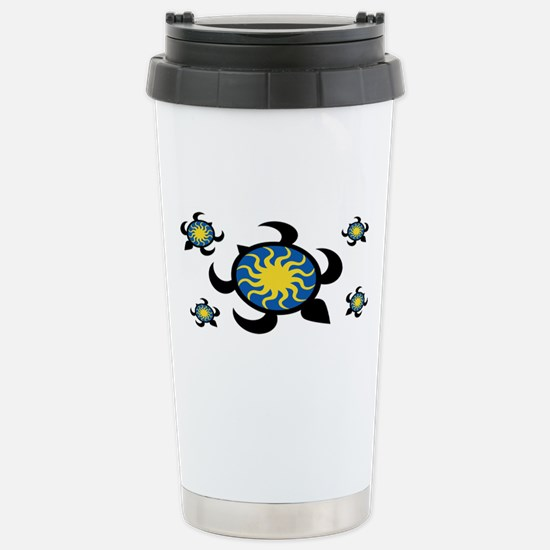 Sun Turtles Stainless Steel Travel Mug