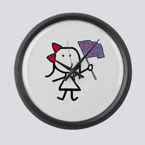 Girl & Color Guard Large Wall Clock