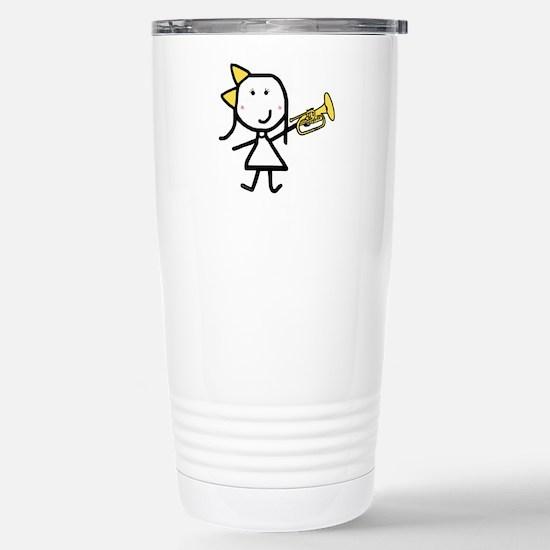 Girl & Mellophone Stainless Steel Travel Mug