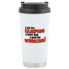 Bad Day Camping Stainless Steel Travel Mug