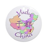Yudu China Map Ornament (Round)