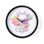 Yudu China Map Wall Clock