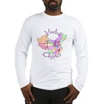 Yudu China Map Long Sleeve T-Shirt