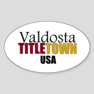 Valdosta TitleTown USA Oval Sticker