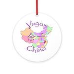 Yugan China Map Ornament (Round)