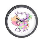 Yugan China Map Wall Clock