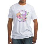 Yugan China Map Fitted T-Shirt