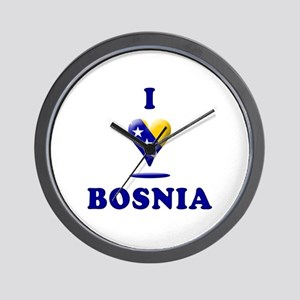 I Love Bosnia Wall Clock