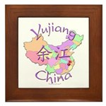 Yujiang China Map Framed Tile