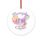 Zhangshu China Map Ornament (Round)