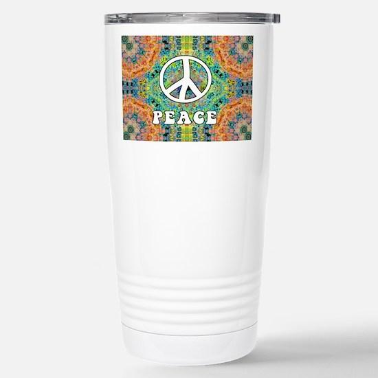 Groovy Peace Stainless Steel Travel Mug