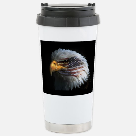 American Flag Eagle Stainless Steel Travel Mug