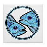 Pisces Astrology Sign Tile Coaster