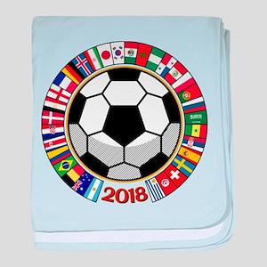 Soccer 2018 baby blanket