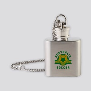 Australia Soccer Flask Necklace