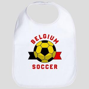 Belgium Soccer Baby Bib