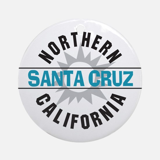 Santa Cruz California Ornament (Round)