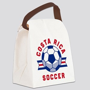 Costa Rica Soccer Canvas Lunch Bag
