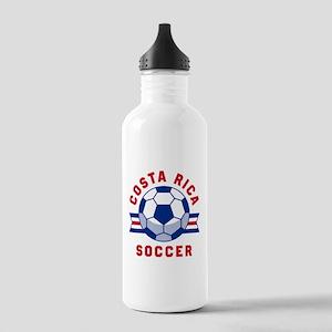Costa Rica Soccer Water Bottle