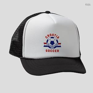 Croatia Soccer Kids Trucker hat